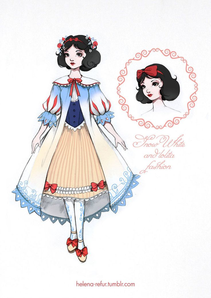 My loli-version of disney Snow White in dress of BABY, THE STARS SHINE BRIGHT. ^_^
