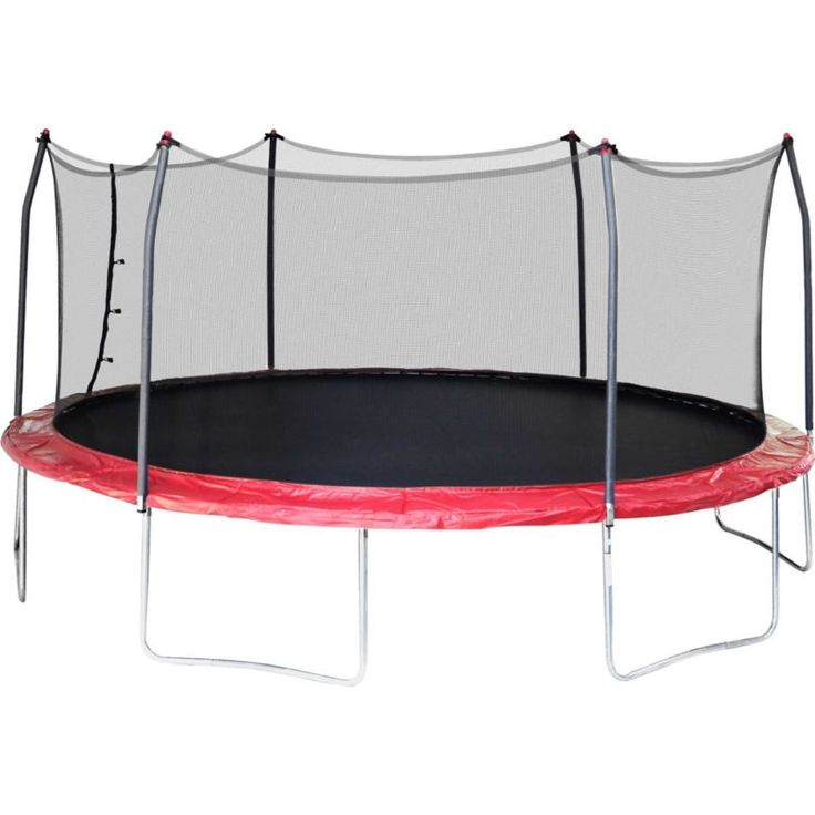 Skywalker Trampolines 17' Oval Trampoline with Enclosure, Red
