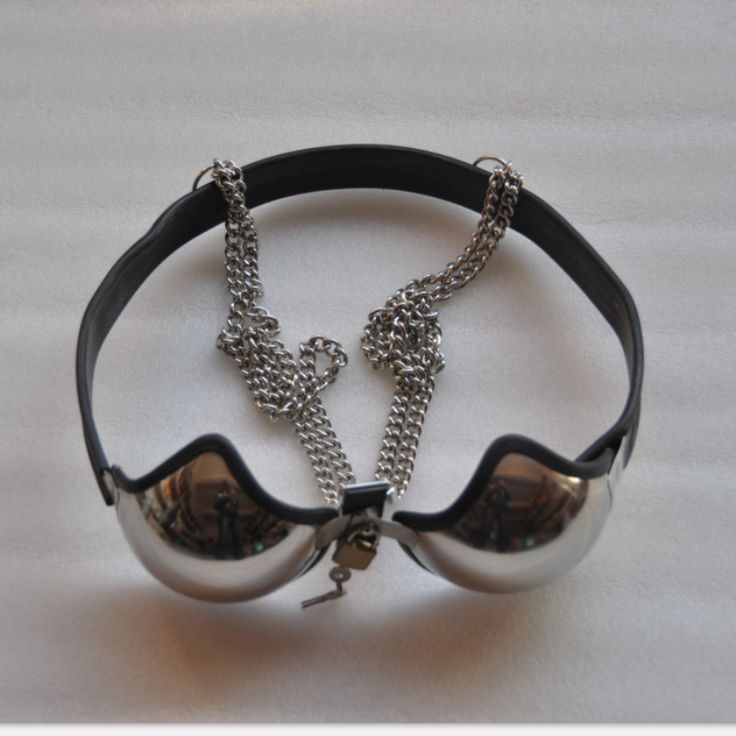Hot female chastity belt Stainless steel Female chastity bra bdsm bondage restraints fetish adult games adult sex toys for women