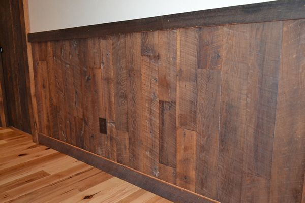 Enterprise Wood | Reclaimed wood paneling.  I like the rustic wood, but don't want it so rough that the kiddos get splinters.