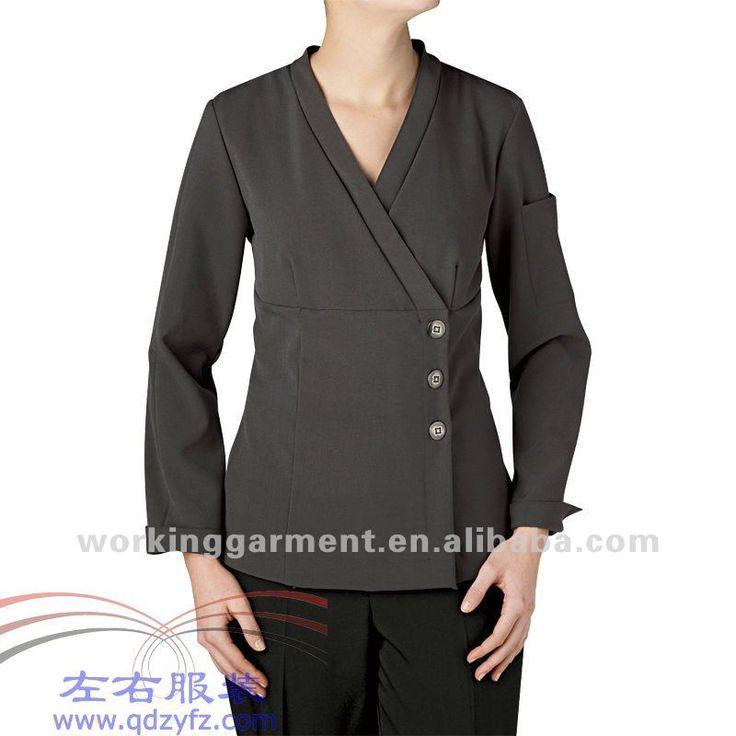 las mujeres agradable capa chef uniforme-Uniformes de Restaurantes & Bares -Identificación del producto:384464674-spanish.alibaba.com