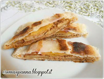 Crema e panna: Strudel con mela, pesca e amaretto (cottura amc)