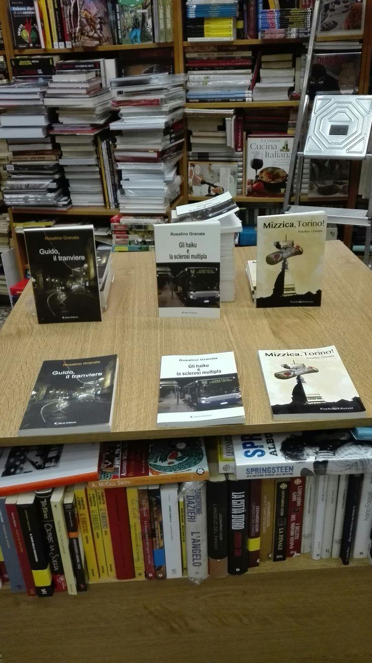 """Presso la libreria """"Eleste"""", via Passo Buole, 59, Torino; potete acquistare i miei romanzi: #glihaikuelasclerosimultipla, #guidoiltranviere e #mizzicatorino!. Cosa aspettate? Correte!"""