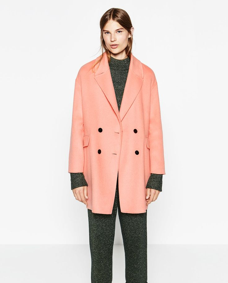 DOUBLE-BREASTED COAT-Coats-OUTERWEAR-WOMAN | ZARA United Kingdom