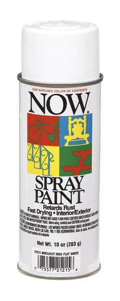Krylon 21215 Now Enamel Spray Paint, Flat White, 9 Oz
