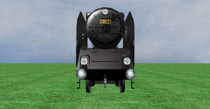 JNR C60 steam loco frontview