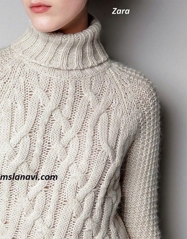 1defc6950f8 Платье вязаное аранами от Zara