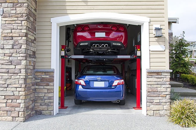 Make A Double Car Garage With A Use Of Car Lift Welcome