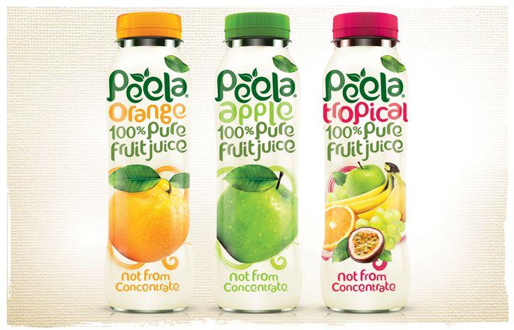 Peela Fruit Juice — The Dieline - Branding & Packaging Design