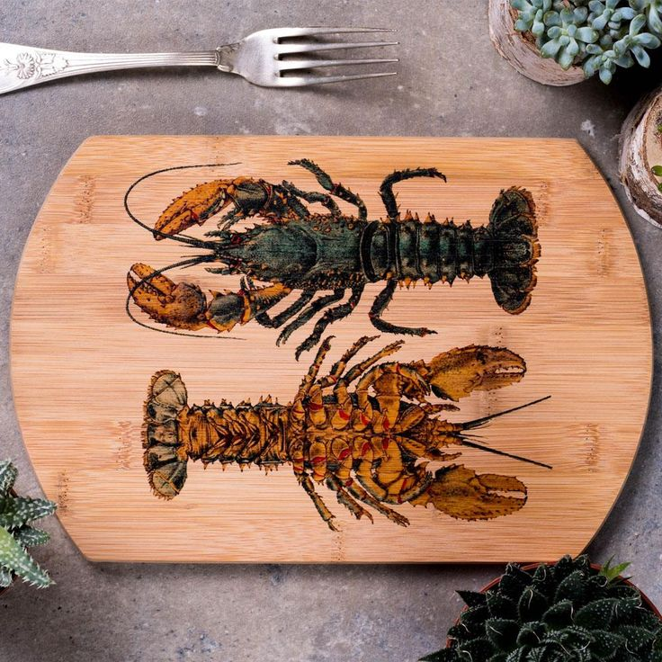 Two Lobsters Cutting Board