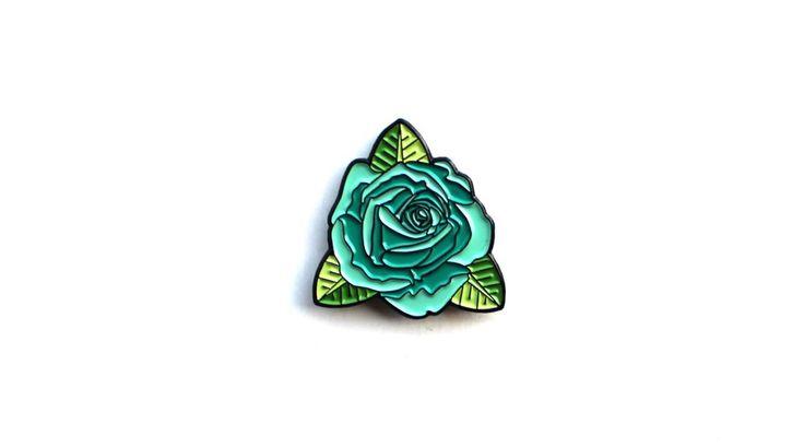 "Image of ""Teal Rose"" Lapel Pin"