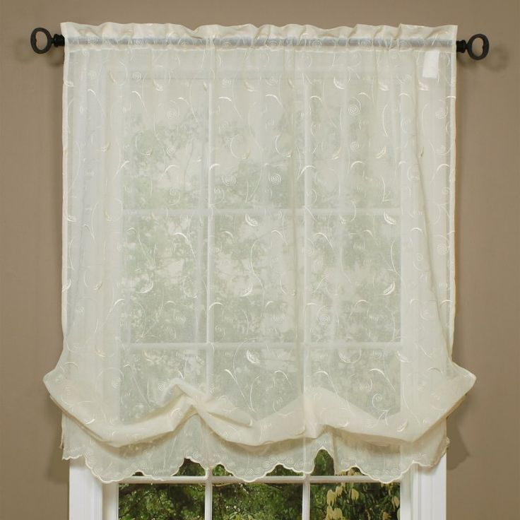 Delightful Commonwealth Hathaway Balloon Curtain Cream   70005 220 54X63 CREAM