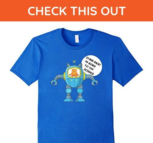 Mens Funny Science Shirt Going To Try Science Cat Rocket T-Shirt Small Royal Blue - Animal shirts (*Amazon Partner-Link)