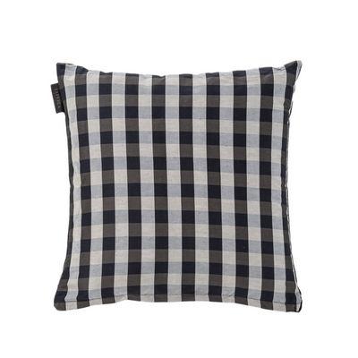 cuscino Chequered Fazzini laPerla in prestigioso jacquard di seta e lino tinto in filo bianco/nero misure 50x50 con velluto nero parte posteriore