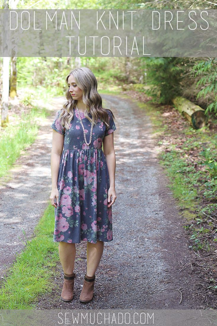 This DIY Dolman Knit Dress Tutorial will help you make your new favorite dress! Use your favorite dolman top pattern to have your dress made in no time!