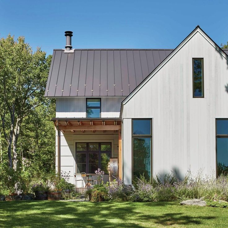 53 best images about farmhouse facade on pinterest for Modern prefab house plans
