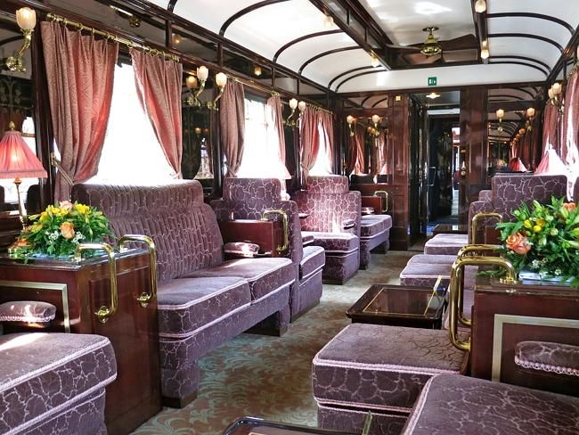 Venice Simplon-Orient-Express -- Luxury lounge on the Venice Simplon-Orient-Express.