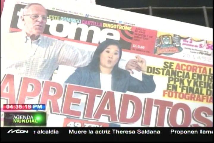 Los Candidatos Presidenciales En El Perú Están Apretaditos Con Una Diferencia De 0,25% En Los Votos