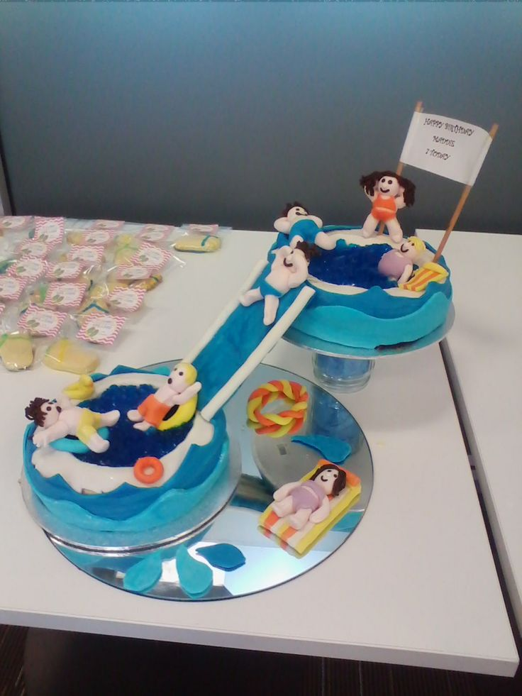 27 Best Images About Pool Party On Pinterest Swimming Pool Cakes Party Cakes And Birthday Cakes
