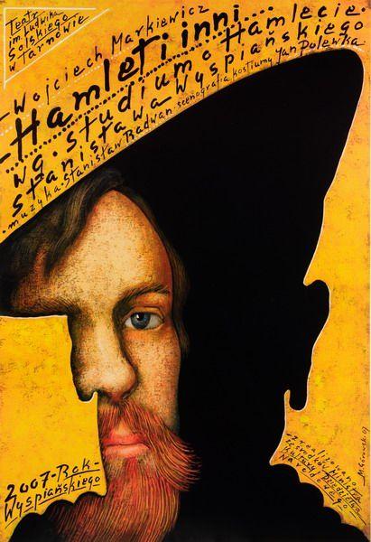 A Study of Hamlet Hamlet i Inni wg. Studium o Hamlecie S. Wyspianskiego Gorowski Mieczyslaw Polish Poster