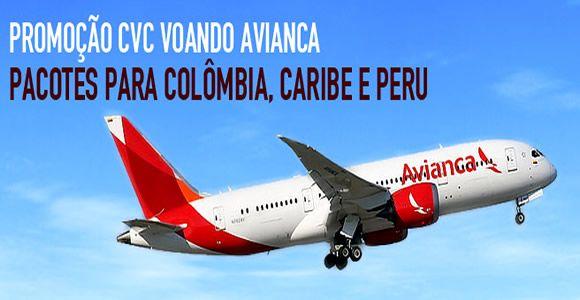 Viagem CVC voando Avianca ou TACA - Pacotes 2016 #viagem #cvc #pacotes #promoção