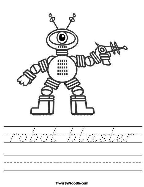 lots of worksheets, you determine the text and the style of handwriting!!  fabulouso for a hot afternoon!!!: Robots Inva, Style
