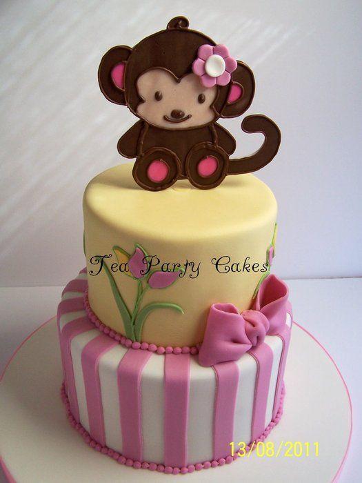 Pink Monkey Girl Cake