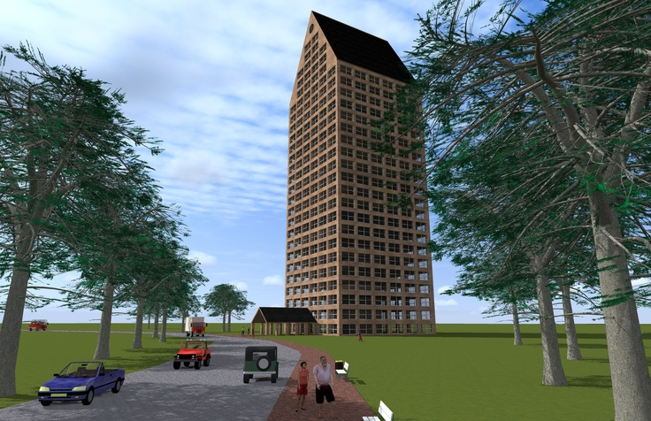 Highrise in Wood. Highrise buildingidea 24 stories all designed and constructed in wood