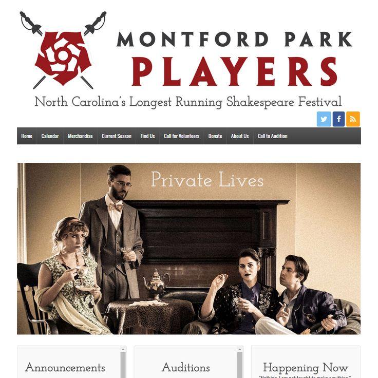 Shakespeare Festival Outdoor: Montford Park Players North Carolina Outdoor Shakespeare