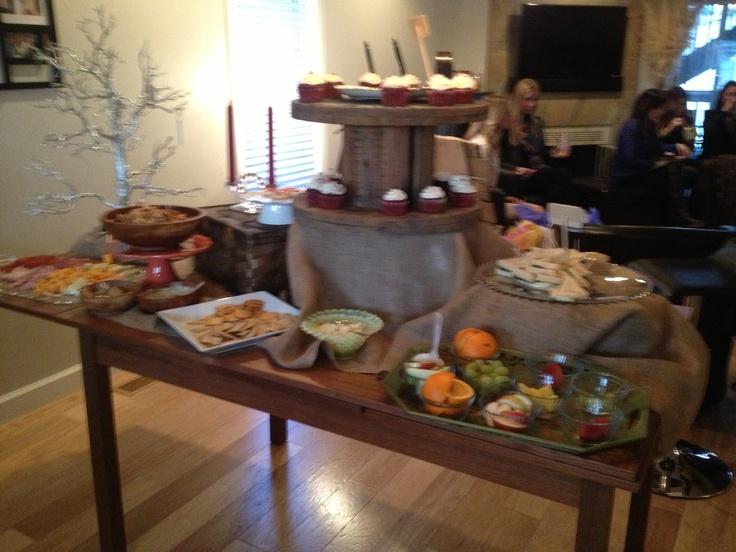 Bridal Shower Food Set Up Wedding Pinterest