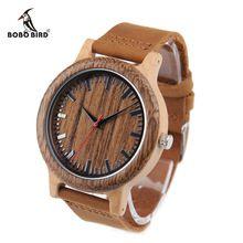 2017 Luxury Brand BOBO BIRD Men Watches Wooden Quartz Wristwatch Genuine Leather Strap relogios masculinos B-M14(China (Mainland))