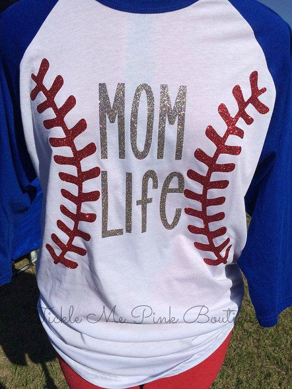 Baseball Shirt! Mom Life Shirt! Baseball Mom Life Shirt! BaseballTee! Adult Baseball Shirt Mom Life Raglan Glitter Baseball Raglan Baseball!