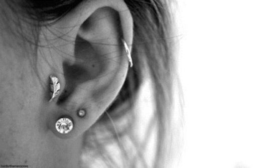 <b>If you're adventurous enough to pierce a part of your ear other than your lobes, try one of these adorable ideas.</b>