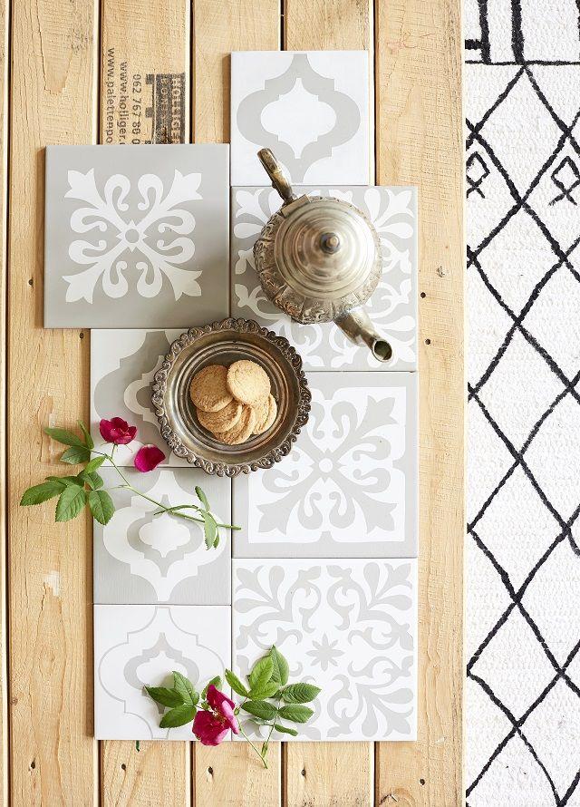 Marokkolaiset laatat - katso ohje! Maalaa kauniit kuviot itse kaakelimaalilla.