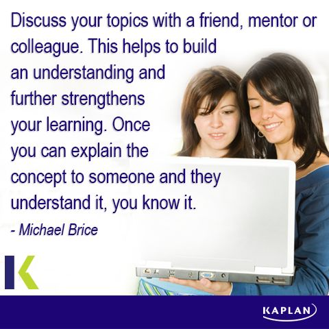 Study tip - Discuss your learnings.