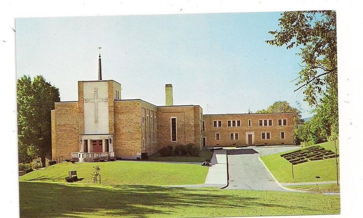 St. Teresa's Church and Rectory South Street Pittsfield MA Postcard 052113