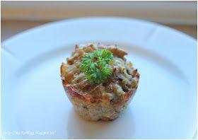 Grove matmuffins med ost, skinke og vårløk