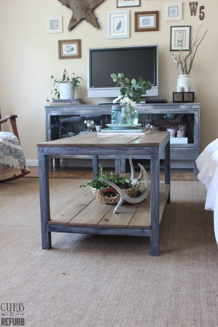 1000 images about industrial farmhouse and rustic look for Industrial farmhouse coffee table