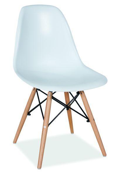 Krzesło ENZO insp. EAMES, białe