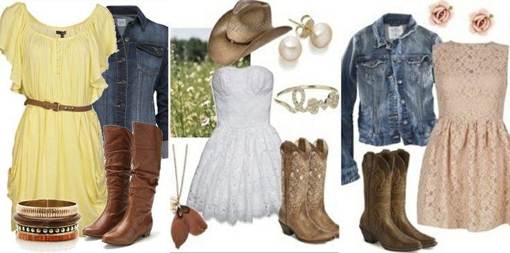 Country Dresses with Boots | right now is a cute dress and boots. I have to say, being a country ...