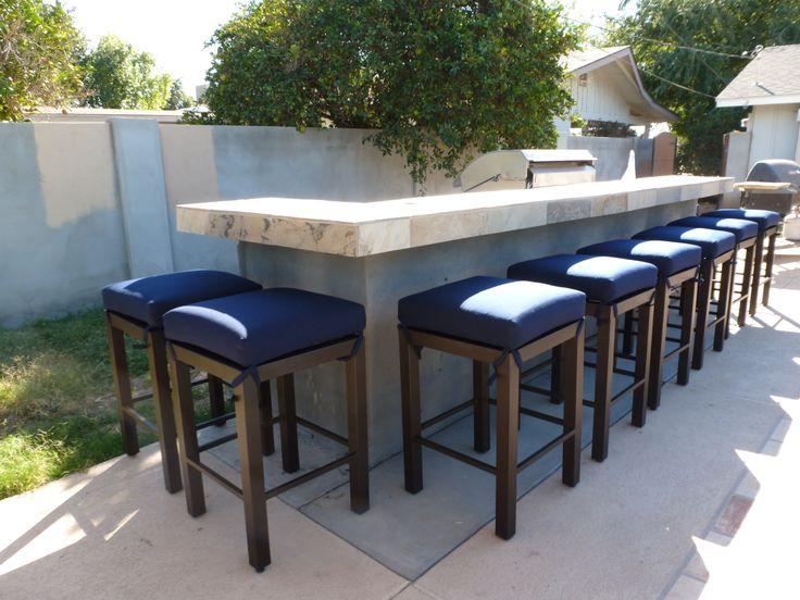 Square Bar Stools. Iron Patio FurniturePhoenix ...