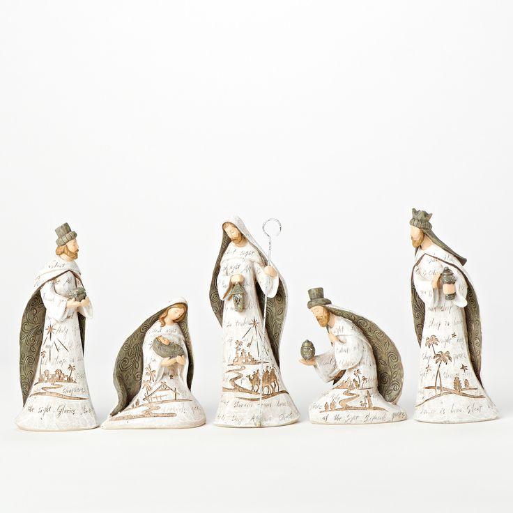 Inspiring Nativity Sets For Sale For Christmas Ornament Ideas: 5 Piece Saint Engrave Nativity Sets For Sale For Christmas Ornament Ideas