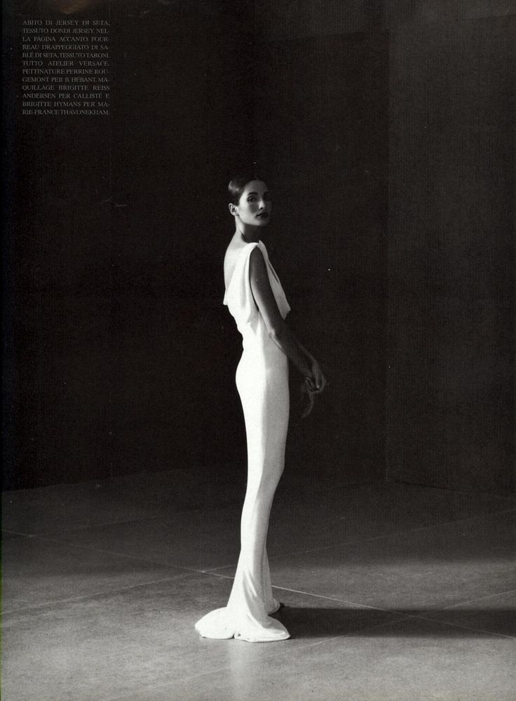 "80s-90s-supermodels:  ""Sculptured Couture"", Vogue Italia, September 1997Photographer : David SeidnerModel : Rhea Durham"
