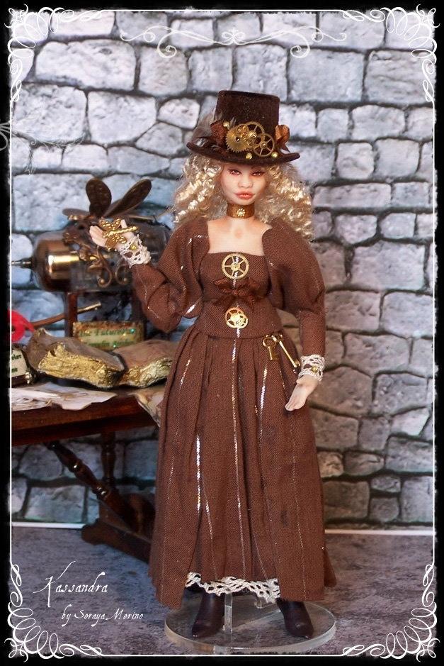 KASSANDRA ooak Steampunk lady 1:12 doll by Soraya Merino. $169.00, via Etsy.