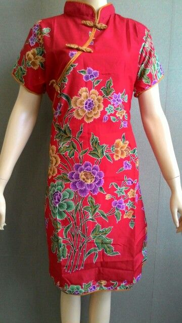 Dress Batik Ceongsam Allsize Harga 125