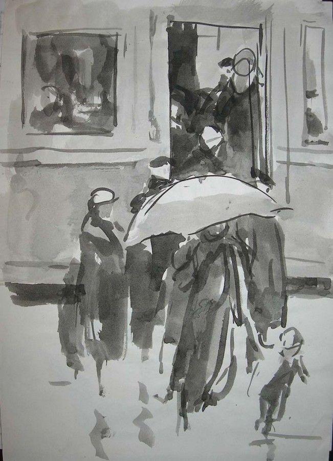 Сойфертис Леонид Владимирович (Россия, 1911-1996) «На перроне»