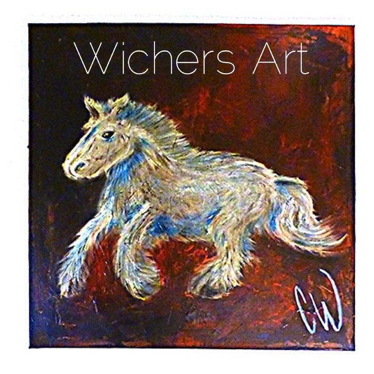 """The Seahorse"" 100x100 cm. #horse #art"