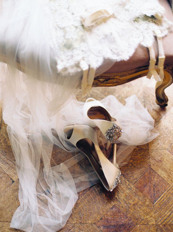 Badgley Mischka  Heels - Bridal Lingerie - Old World Elegance | Lily & Sage | Luxury Wedding Planning & Styling
