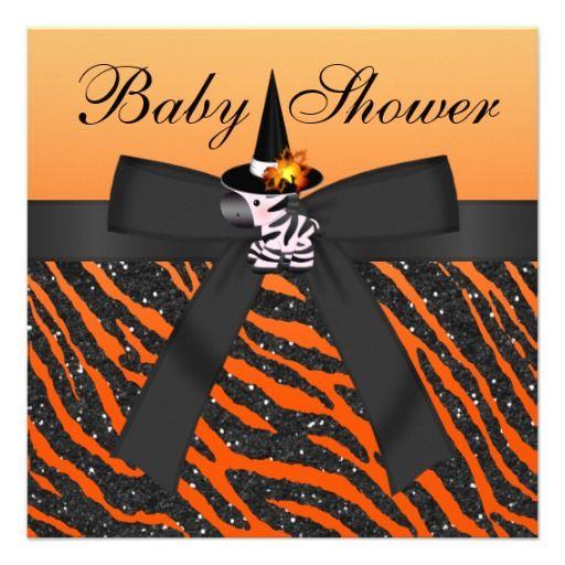 143 best halloween baby shower invitations images on pinterest halloween zebra animal print baby shower invitation filmwisefo