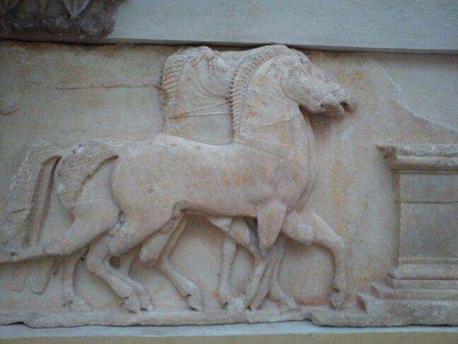 Horse detail delphi greece